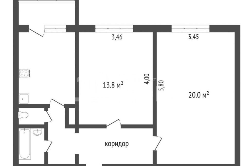 2-комн. квартиры г. Сургут, Привокзальная 28 (р-н Северный жилой) фото 12