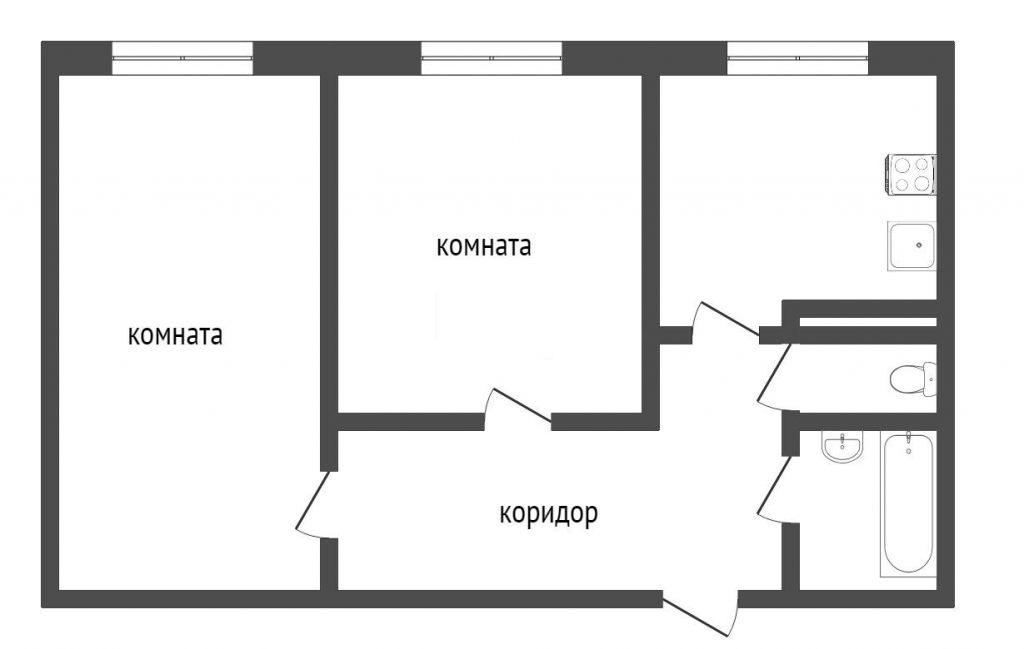 2-комн. квартиры г. Сургут, Пушкина 24 (мкрн 16 А) фото 1