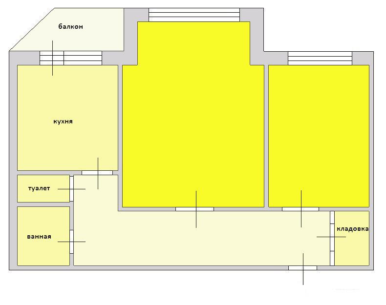 2-комн. квартиры г. Сургут, Ленина, проспект 34 (р-н Центральный) фото 1