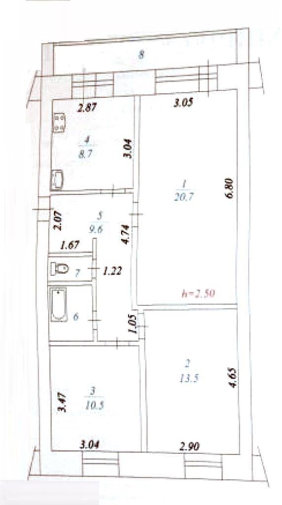 3-комн. квартиры г. Белый Яр, 1 мкр 7 (мкрн Белый Яр) фото 13