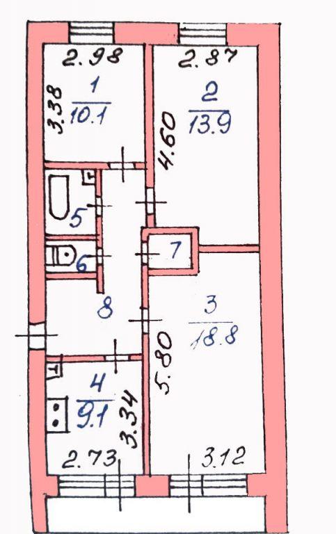 3-комн. квартиры г. Белый Яр, 1 мкр 4 (мкрн Белый Яр) фото 17