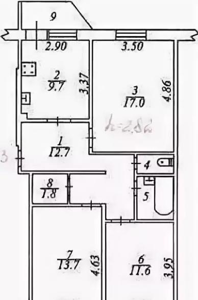 3-комн. квартиры г. Сургут, Гагарина 30 (р-н Центральный) фото 10
