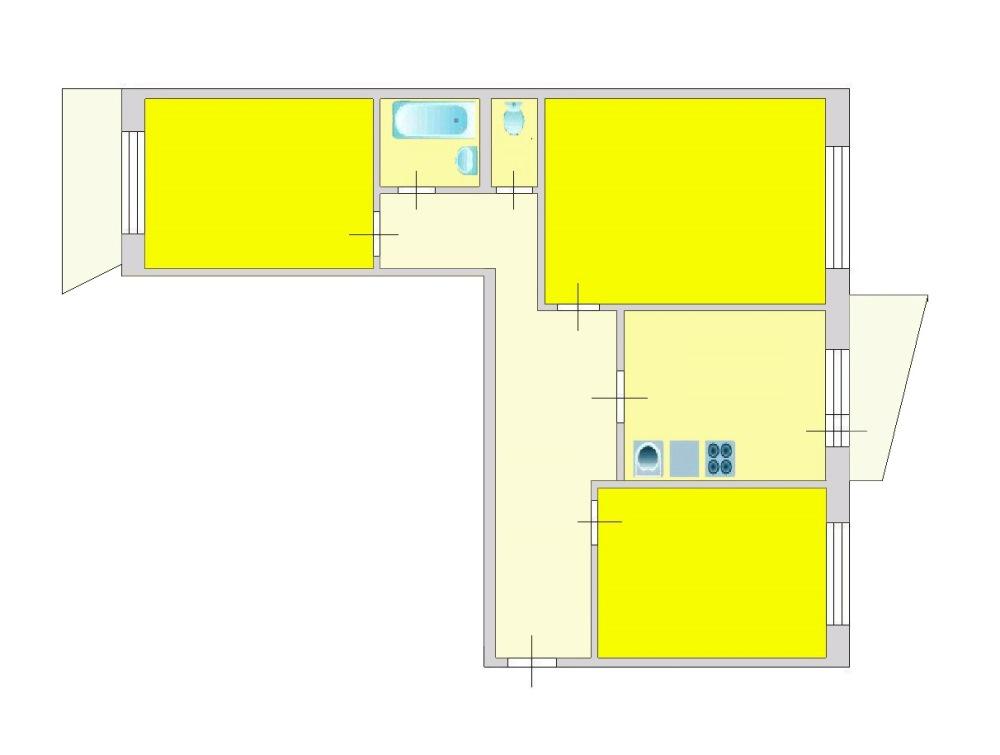 3-комн. квартиры г. Сургут, Ленина, проспект 46 (р-н Центральный) фото 9