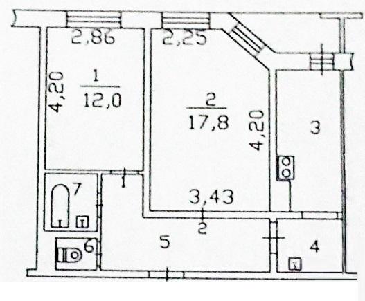 2-комн. квартиры г. Сургут, Первопроходцев, проезд 2 (р-н Восточный) фото 12