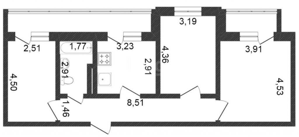3-комн. квартиры г. Сургут, Весенний, проезд 1 (р-н Северный жилой) фото 2