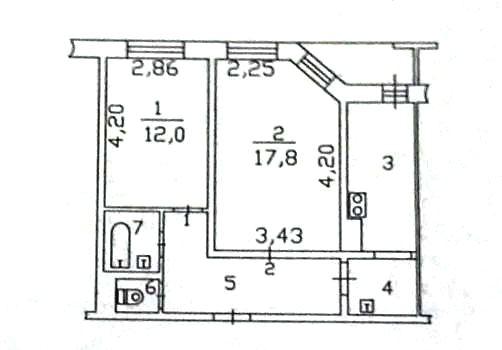 2-комн. квартиры г. Сургут, Первопроходцев, проезд 2 (р-н Восточный) фото 13