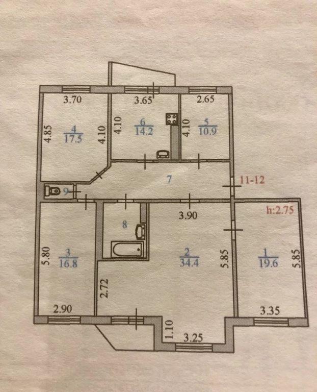 6-комн. квартиры г. Сургут, Профсоюзов 16 (мкрн 11 Б) фото 9