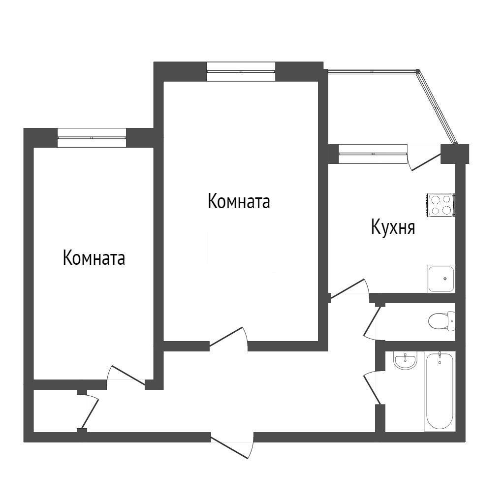 2-комн. квартиры г. Сургут, 50 лет ВЛКСМ 6б (р-н Центральный) фото 4