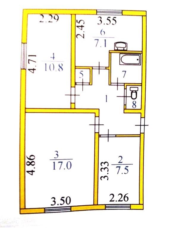 3-комн. квартиры г. Белый Яр, Лесная 12а (р-н Сургутский район) фото 4