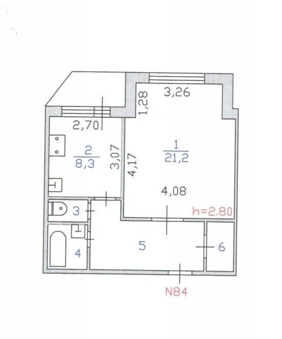 1-комн. квартиры г. Сургут, Взлетный, проезд 1 (р-н Восточный) фото 3