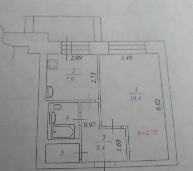 1-комн. квартиры г. Сургут, Пролетарский, проспект 5 (р-н Северо-восточный жилой) фото 1