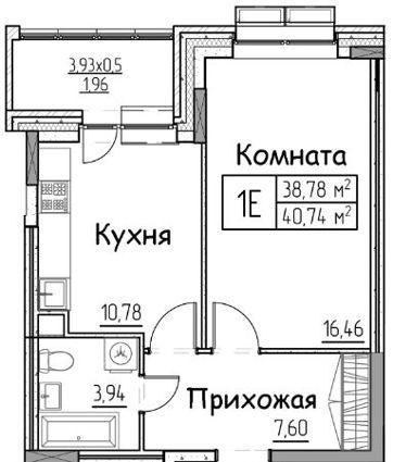 1-комн. квартиры г. Сургут, Взлетная 2 стр. (р-н Восточный) фото 1