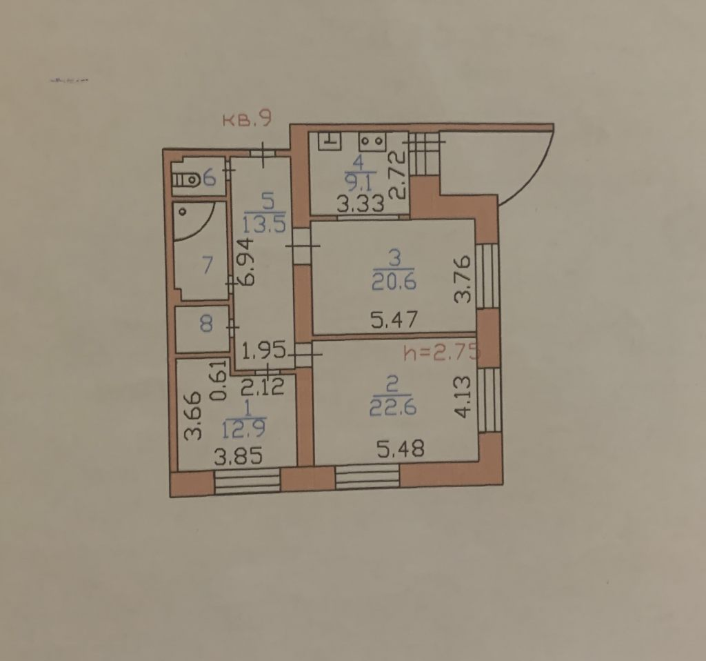 3-комн. квартиры г. Сургут, Флегонта Показаньева 6 (р-н Северный жилой) фото 1