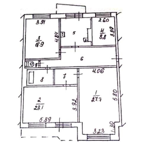 4-комн. квартиры г. Сургут, Комсомольский, проспект 15 (р-н Восточный) фото 16