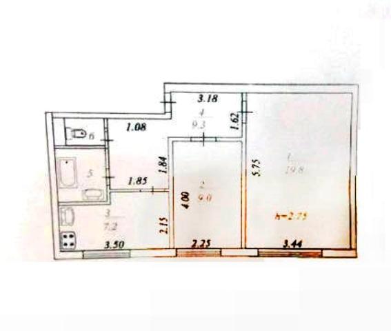 2-комн. квартиры г. Белый Яр, Шукшина 9 (р-н Сургутский район) фото 1