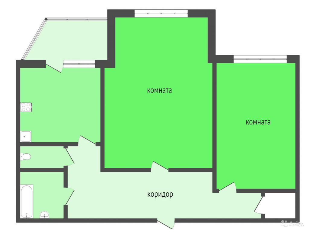 2-комн. квартиры г. Сургут, Ленина, проспект 54 (р-н Центральный) фото 1