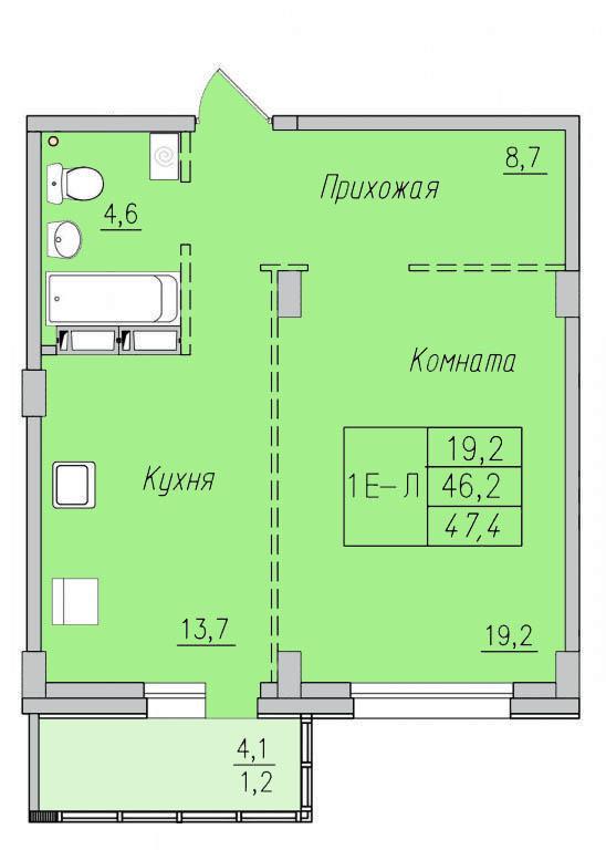 1-комн. квартиры г. Сургут, Университетская 17 стр. (р-н Северо-восточный жилой) фото 6