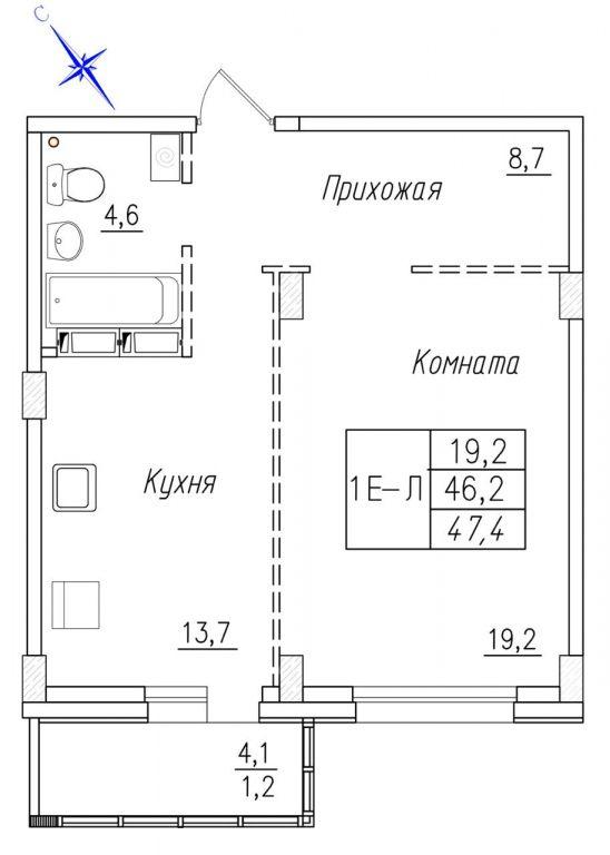 1-комн. квартиры г. Сургут, Университетская 17 стр. (р-н Северо-восточный жилой) фото 4