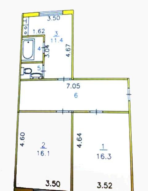 2-комн. квартиры г. Белый Яр, Манежный, переулок 16 (р-н Сургутский район) фото 17