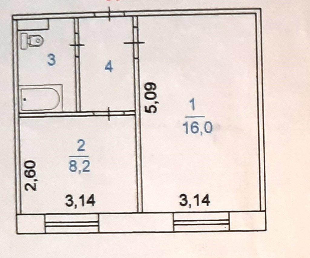 2-комн. квартиры г. Сургут, Первопроходцев, проезд 1 (р-н Восточный) фото 6