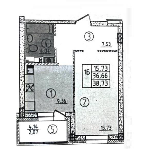 1-комн. квартиры г. Сургут, Взлетная 1 стр. (р-н Восточный) фото 2