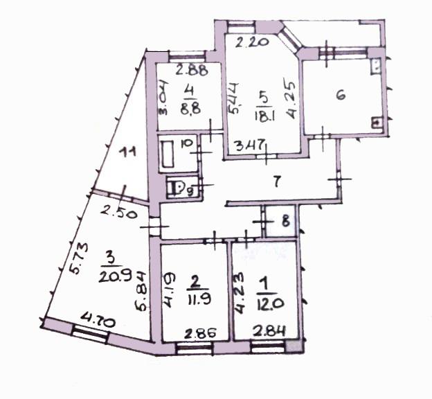 5-комн. квартиры г. Сургут, Быстринская 18 (р-н Северо-восточный жилой) фото 12