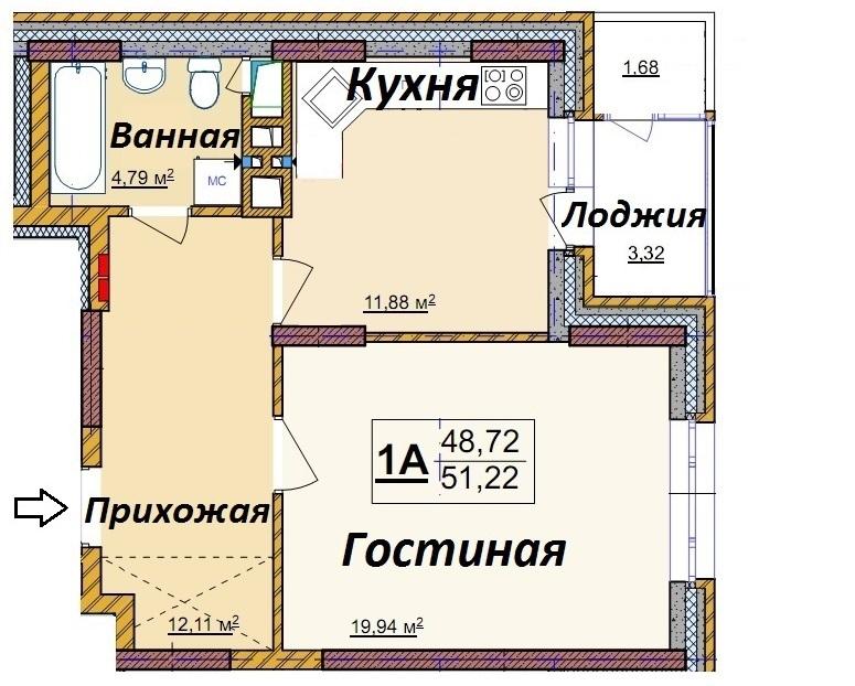 1-комн. квартиры г. Сургут, Мелик-Карамова 4/3 (р-н Восточный) фото 2