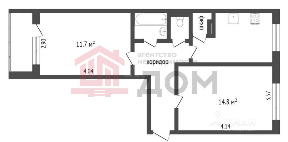 2-комн. квартиры г. Сургут, Крылова 39 (р-н Северный жилой) фото 1